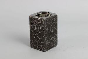 Sivý keramický svietnik na čajovú sviečku 10cm