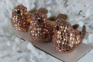 Medené dekoračné vtáčiky 3 ks
