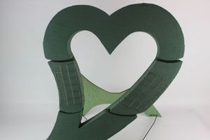 Zelené oasis srdce so stojanom 63x50 cm
