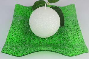 Zelený sklenený tanier štvorec 22 cm