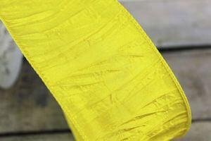 Žltá krčená stuha 6 cm x 10 m