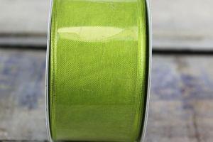 Zelená priehľadná sieťovinová stuha 4 cm x 10 m
