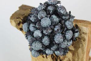 Modrý umelý exotický kvet na stonke 77cm