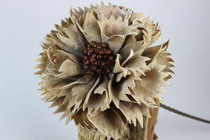 Hnedý umelý exotický kvet 84cm