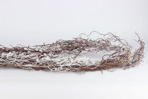 Hnedá zasnežená girlanda 180 cm