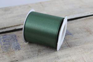 Zelená tmavá saténová stuha 6cm x 10m