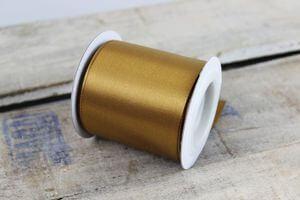 Zlatá saténová stuha 6cm x 10m