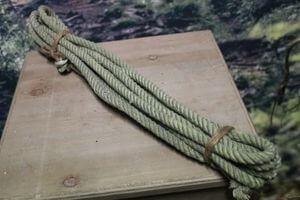 Zelené svetlé jutové lano 6m