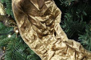 Zlatá krčená zamatová stuha  šírka 12cm