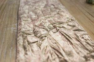 Krémová krčená zamatová stuha šírka 12cm