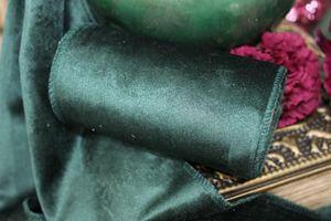 Tmavozelená zamatová stuha šírka 12 cm x 2m