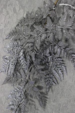 Sivá papraď so strieborným glitrom 85cm