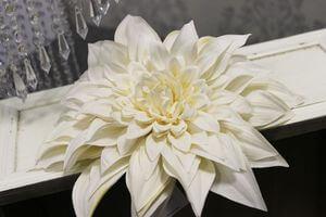 Krémový umelý kvet dálie 24cm