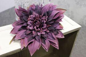 Fialový umelý kvet dálie 24cm