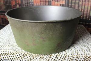 Zelená hrdzavá okrúhla nádoba 36cm
