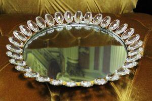 Zlatý zrkadlový podnos 32cm