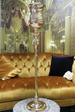 Zlatá luxusná vysoká váza 100 cm