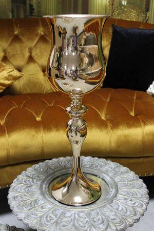Zlatá luxusná váza 58 cm