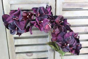 Bordovo fialová umelá bugenvilea na stonke 62cm