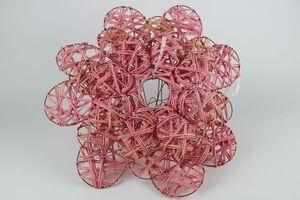 Ružové ratanové držiaky na kyticu 3 ks