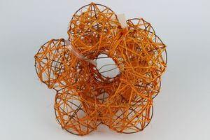 Oranžové držiaky na kytice 3 ks