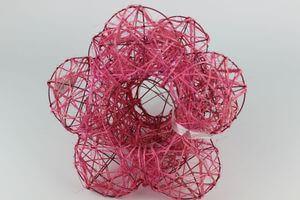 Ružové držiaky na kytice 3 ks
