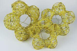 Žlté držiaky na kytice 3 ks