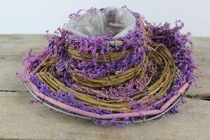 Fialový prírodný klobúk 25cm