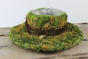 Zeleno žltý prírodný klobúk 29cm