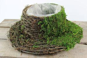 Zeleno hnedý prírodný klobúk 29cm