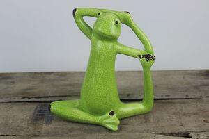 Zelená keramická žaba 10cm