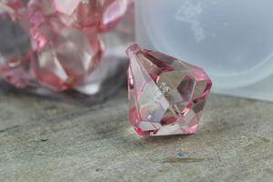 Ružové dekoračné kamienky v tvare kryštálov 20ks