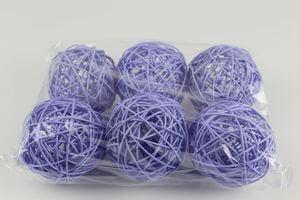Fialové prútené dekoračné guľky 9cm