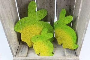 Zelené dekoračné veľkonočné zajace  3 ks