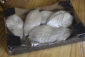 Krémové perleťové listy 30ks 13cm