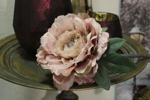 Ružová ruža na stopke 75cm