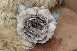 Staroružová sametová ruža 14cm