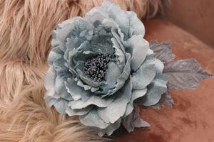 Bledomodrá tiffany sametová ruža 14cm