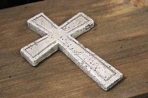 Sivý krížik so zápichom 10cm