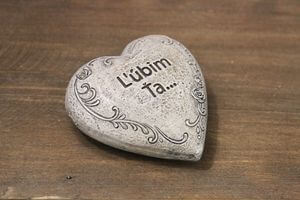Sivé srdce Ľúbim ťa 7cm
