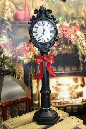 Čierne svietiace dekoračné hodiny 60cm