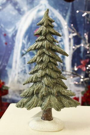 Zelený zamrznutý stromček veľký 30 cm