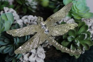 Zlatá trblietavá vážka 12,5 cm