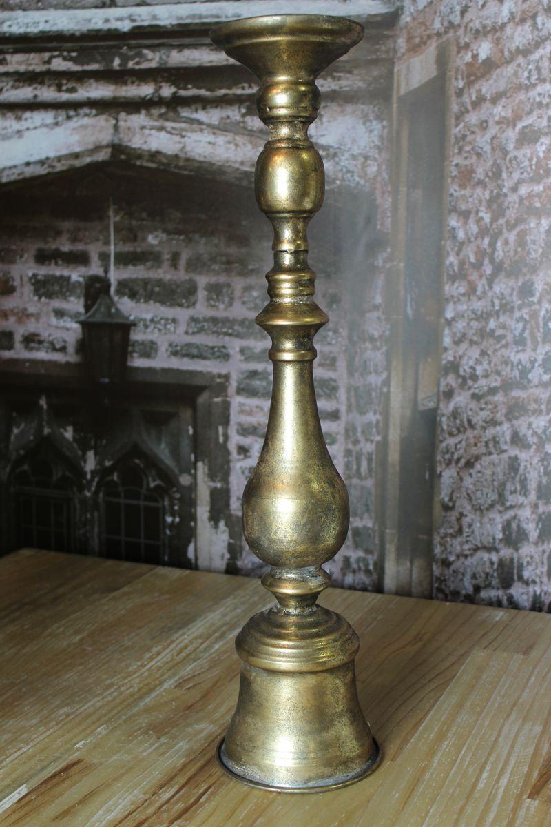 Starozlatý patinovaný zámocký svietnik 60cm